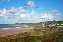 Woolacombe beach. And coast of North Devon Royalty Free Stock Photos