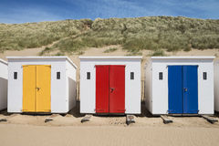 Woolacombe Beach Huts Stock Photography