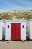 Woolacombe Beach Huts. Beach Huts at Woolacombe, Devon, UK Stock Photo