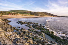 Woolacombe Beach in North Devon in England Stock Images