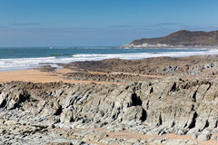 Woolacombe coast and beach Devon England and Morte Point Royalty Free Stock Photos
