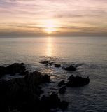 woolacombe na plaży Obraz Royalty Free