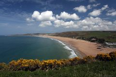 Woolacombe  North  Devon coast Royalty Free Stock Image
