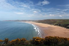 Woolacombe  North  Devon coast Stock Photo
