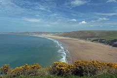 Woolacombe  North  Devon coast Stock Images