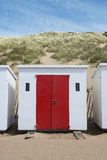 Woolacombe strandkojor Arkivfoto