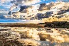 Woolacombe Sunset Royalty Free Stock Image