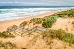 Woolamai beach in Phillip island nature park in Australia stock photos