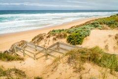 Woolamai beach in Phillip island nature park in Australia stock photography