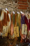 Woolen art 2017 Corneliano Bertario - Italy. 12th edition of the `Woolen Art` event on 24-25-26 November, 2017, in the magical atmosphere of Borromeo Castle by Stock Photography