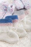 Woolen baby socks Stock Photos