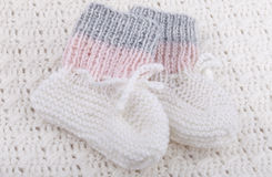 Woolen baby socks Royalty Free Stock Photo