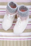 Woolen baby socks Royalty Free Stock Images
