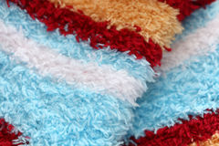 Woolen background. Colorful woolen background. Close-up Stock Photography