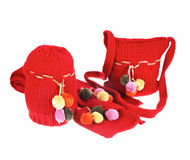 Woolen bag, hat and scarf Royalty Free Stock Photo