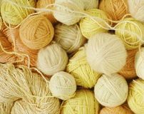 Woolen balls Stock Photo