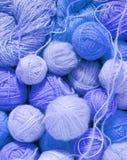 Woolen balls. Light blue woolen balls Royalty Free Stock Photography