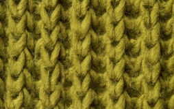 Woolen Beschaffenheitshintergrund, gestricktes Wollgewebe, Grün Stockfoto