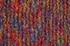 Woolen Beschaffenheitshintergrund, gestricktes Wollgewebe, haariges Gewebe Stockbild