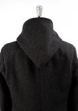 Woolen black coat Stock Photo