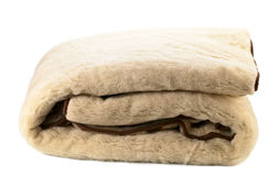 Woolen blanket on white Royalty Free Stock Image