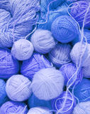 woolen bollar Royaltyfri Fotografi