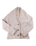 Woolen cardigan. On the white Stock Image
