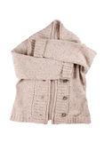 Woolen cardigan. On the white Royalty Free Stock Images