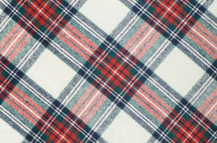 Woolen checkered fabric texture Royalty Free Stock Image