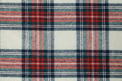 Woolen checkered fabric texture Stock Images