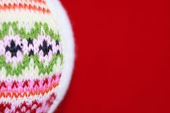 Woolen Christmas ball royalty free stock images