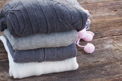Woolen clothes Royalty Free Stock Photos