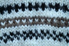 Woolen clothing, pattern with hearts. Part of woolen clothing pattern with hearts Stock Photos