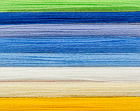 Woolen colorful threads Stock Image