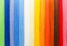 Woolen colorful threads Stock Photo
