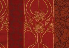 Woolen czerwona tekstura dla tła Obraz Stock