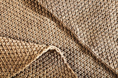 Woolen fabric brown Stock Photos