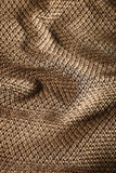 Woolen fabric brown Stock Image