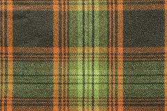 Woolen fabric with an checkered pattern Royalty Free Stock Photography