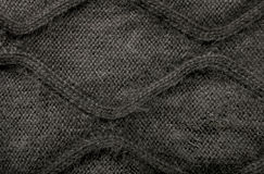 Woolen fabric gray Royalty Free Stock Photo