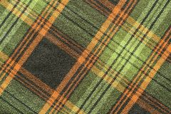 Woolen fabric with an slanting checkered pattern Royalty Free Stock Image