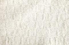 Woolen fabric white Stock Photography