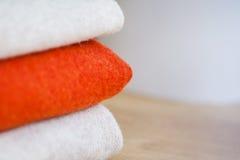 Woolen fabrics. Stock Image