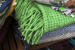Woolen green plaid Royalty Free Stock Photography