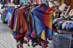 Woolen hand knitted clothes in Tallinn,Estonia Stock Image