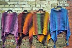 Woolen handgestrickte Kleidung in Tallinn Lizenzfreies Stockfoto