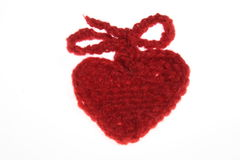 Woolen heart Royalty Free Stock Images