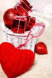 Woolen heart Royalty Free Stock Photo