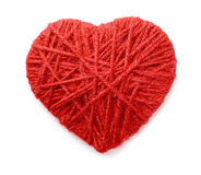 Woolen heart Stock Photography