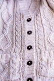 Woolen kamizelka dla zbliżenia Fotografia Royalty Free